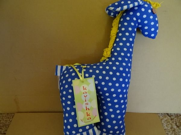 Blue spotty giraffe in need of cuddles http://www.nestling.com.au/sale---baby-accessories-c73/toys-c44/kavishka-blue-spotty-baby-giraffe-p1123/
