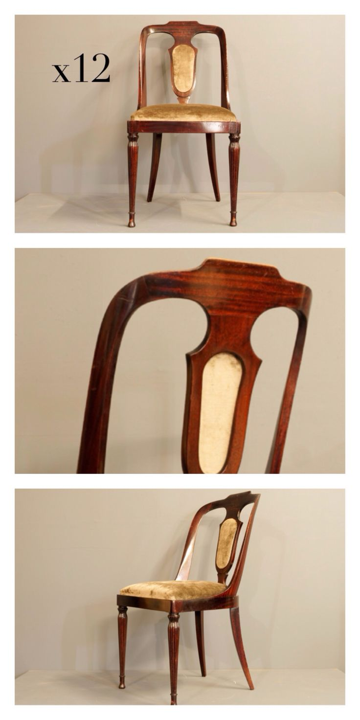 Set Of 12 Rosewood Dining Chairs. Made In Cantu, Italy, C.1940
