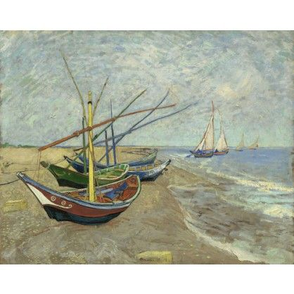 Vissersboten op het strand - Vincent van Gogh - Woonaccessoires - WinjeWanje Interieurs
