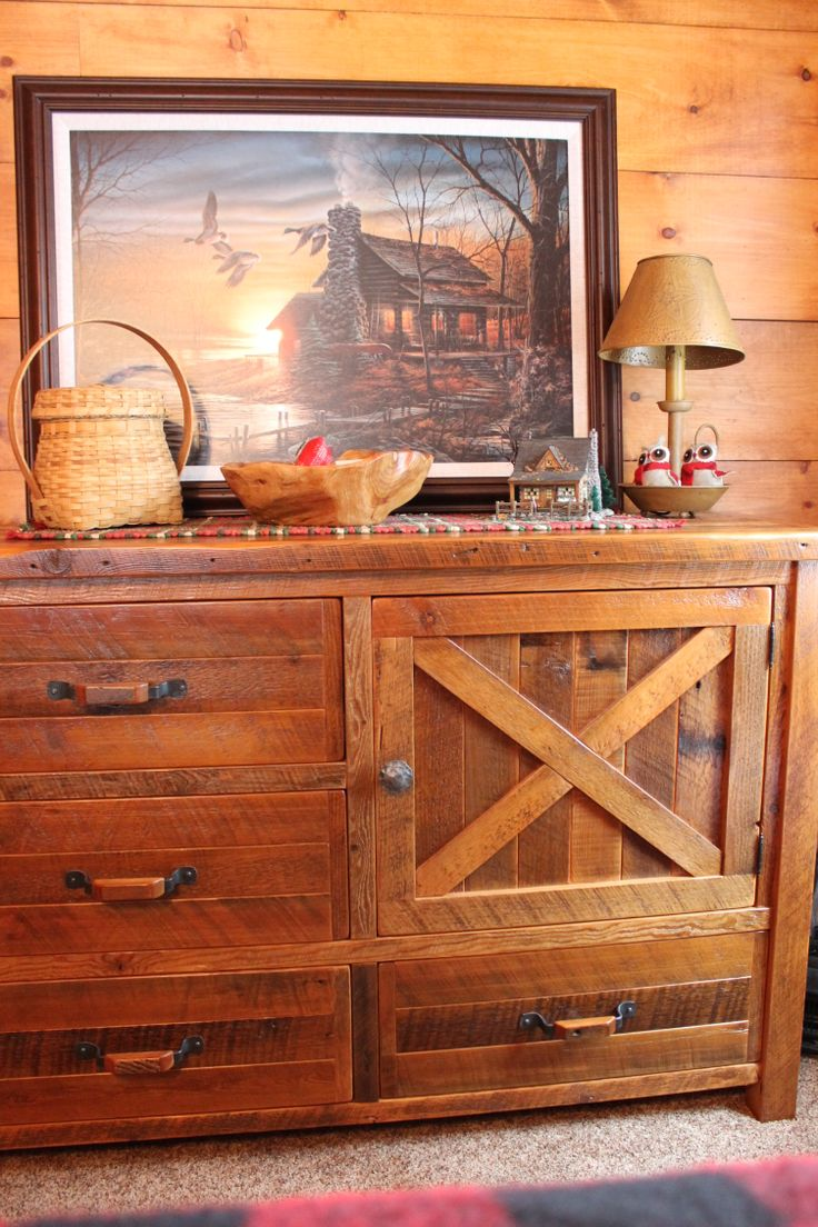 Roughing It In Style 39 S Barn Door Dresser Rustic Barnwood Roughing It 39 S Interior Design
