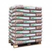 Bruine houtpellets 66 zakken / 990 KG! - Din+ | Bustotaal.nl