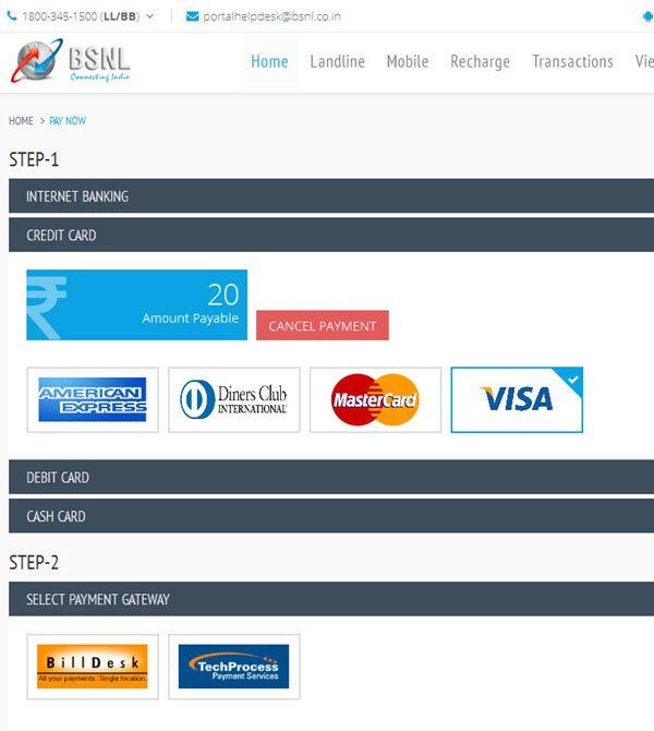 BSNL Bill Payment - How To Pay BSNL Bill Online on BSNL Portal
