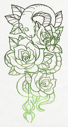 Spooky Snake Sleeve design (UT8696) from UrbanThreads.com
