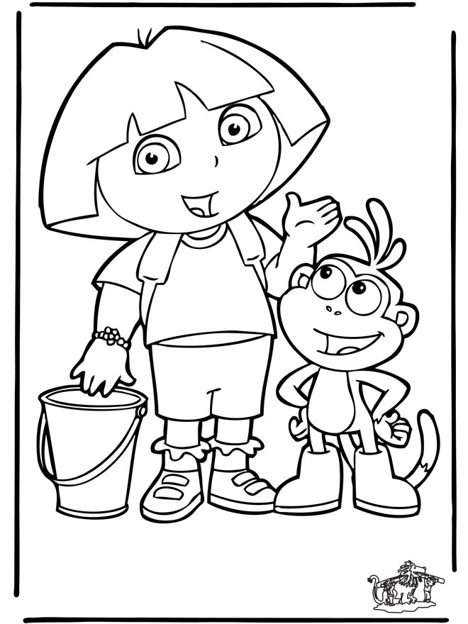25 best ideas about coloriage dora on pinterest - Coloriages dora ...