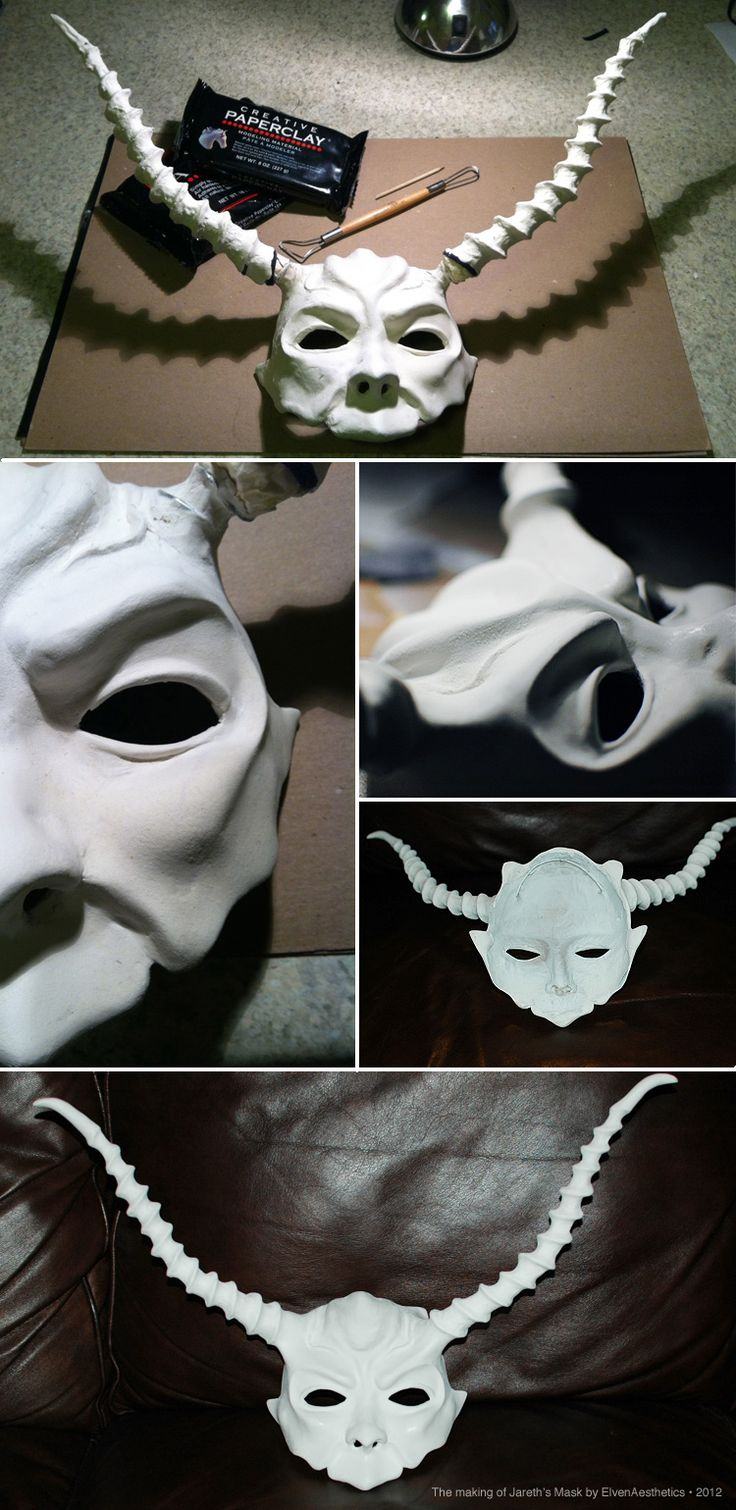 The Making of Jareth's Mask p1 by Katyok.deviantart.com - Labyrinth