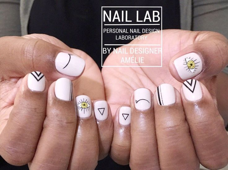 Photo of Nail Lab - Toronto, ON, Canada. Hand drawn nail design