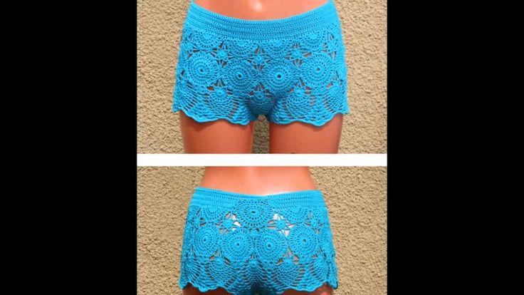Modelos de shorts tejidos a crochet