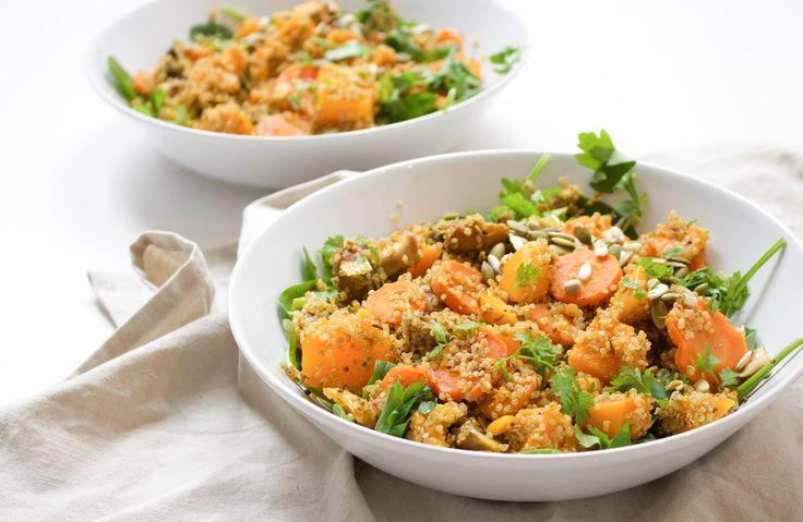 Quinoa+met+pompoen+en+spinazie