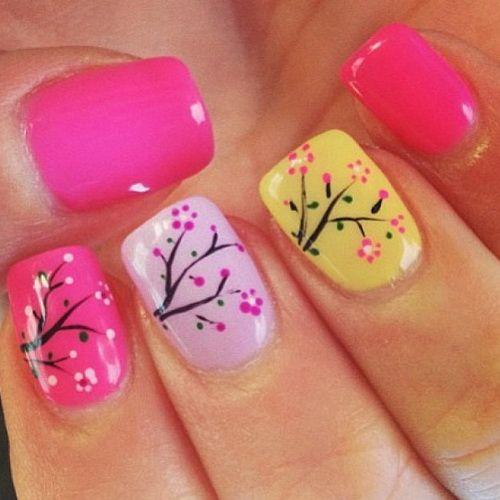 spring holiday nail designs Holiday Nail Designs Short Nails love this