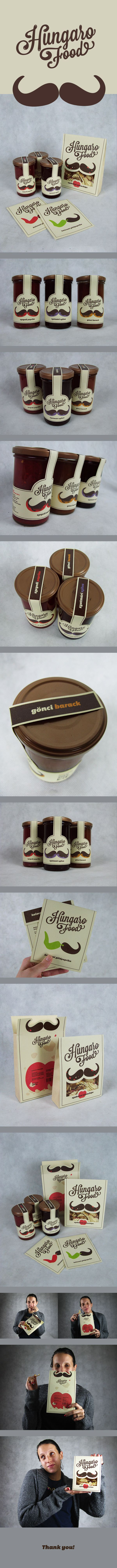 HungaroFood Brand by Adrienn Nagy, via Behance