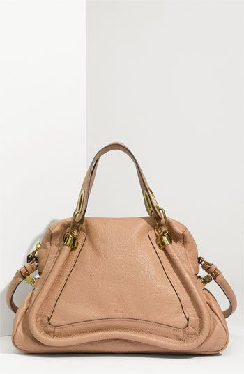 should i  get this?Leather Satchel, Birthday Presents, Chloé Paraty, Spring Bags, Chloe Handbags, Chloe Bags, Design Handbags, Calfskin Leather, Chloe Paraty