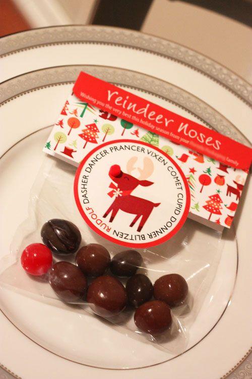 visual meringue: Reindeer Noses... and a free printable!