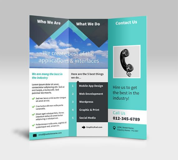 Best Tri Fold Brochures Images On   Brochure Template