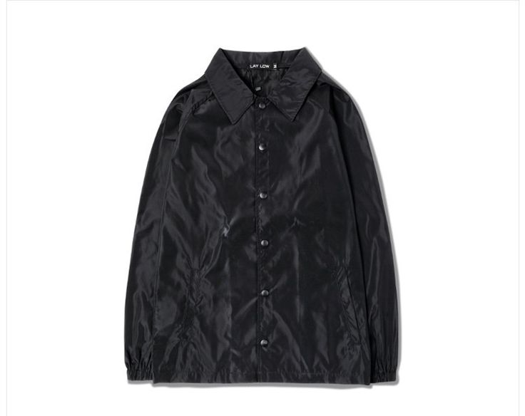 Solid Black Windbreaker