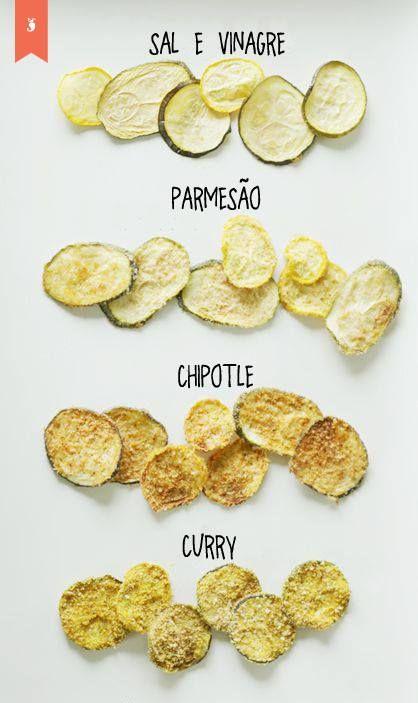Sabe aquele chips de abobrinha básico? Que tal dar uma incrementada?