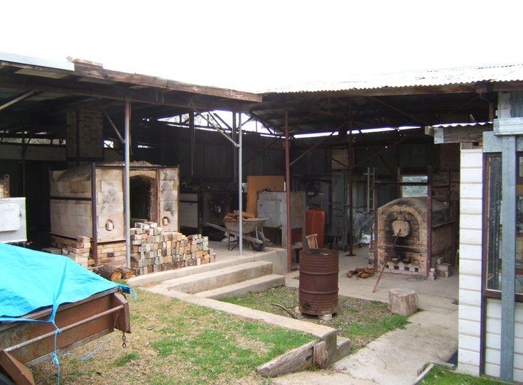 Wood-fired kilns at Strathnairn Arts, Australia