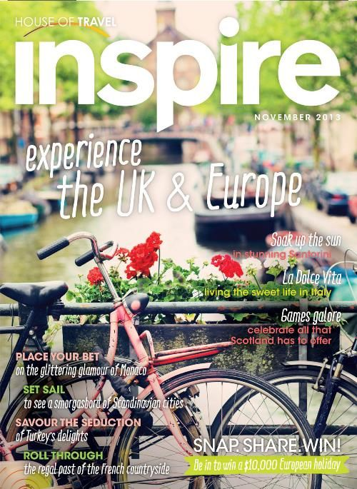 Experience the UK & Europe with inspiration from House of Travel's Inspire Magazine.
