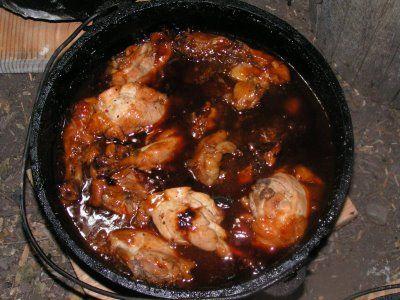 Dutch oven bbq chicken chicken pinterest green bean for Dutch oven chicken recipes for camping
