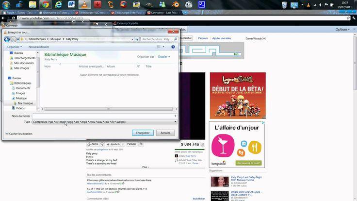 Petite astuce pour pouvoir récupérer la musique d'une vidéo youtube et la mettre sur un baladeur mp3 tel que l'iPod avec iTunes (ou équivalent), VLC et Free ...