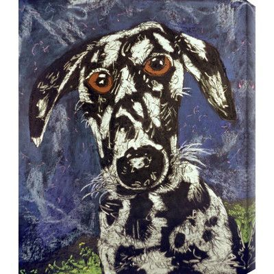 """Gallery Direct 'Dog 1' by Geoffrey Robinson Painting Print on Wrapped Canvas Size: 40"""" H x 34"""" W"""