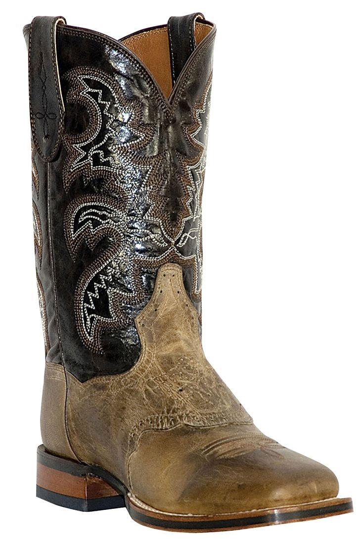 Mens Cowboy Certified Stockman Square Toe Cowboy Boots | valleyvet.com