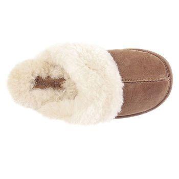 Ladies Sheepskin Slipper Mules