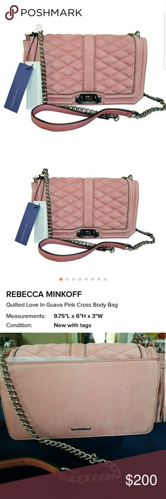 """Rebbeca Minkoff Pink Suede Quilted Cross Body Bag Rebbeca Minkoff Pink Suede Quilted Cross Body Bag In """"Pink Guava"""" Rebecca Minkoff Bags Crossbody Bags"""