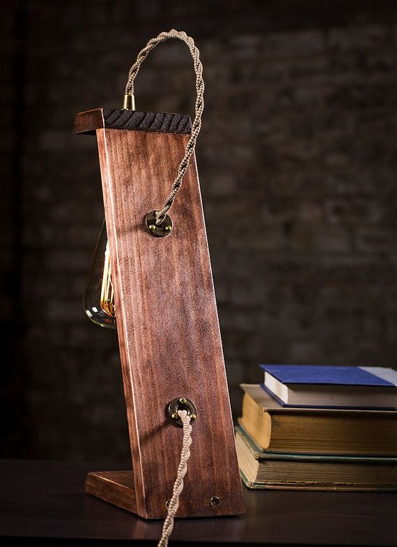 Wooden Edison Table Lamp by DanCordero on Etsy
