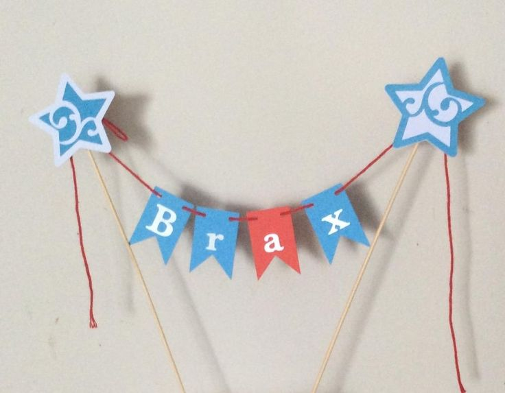 Any Name personalised Cake Bunting -Flags,Garland, for In The Night Garden party