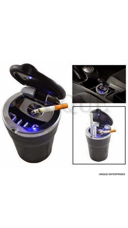 Unique Designer Cigarette Ashtray With Blue Led Light For Car / Home