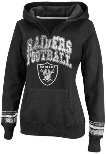 NFL Womens Oakland Raiders Preseason Favorite II Long Sleeve Pull-Over Hooded Fleece (Black/Sport Gray, Medium) by Majestic, http://www.amazon.com/dp/B00854VK52/ref=cm_sw_r_pi_dp_QYj7qb06CEGBA