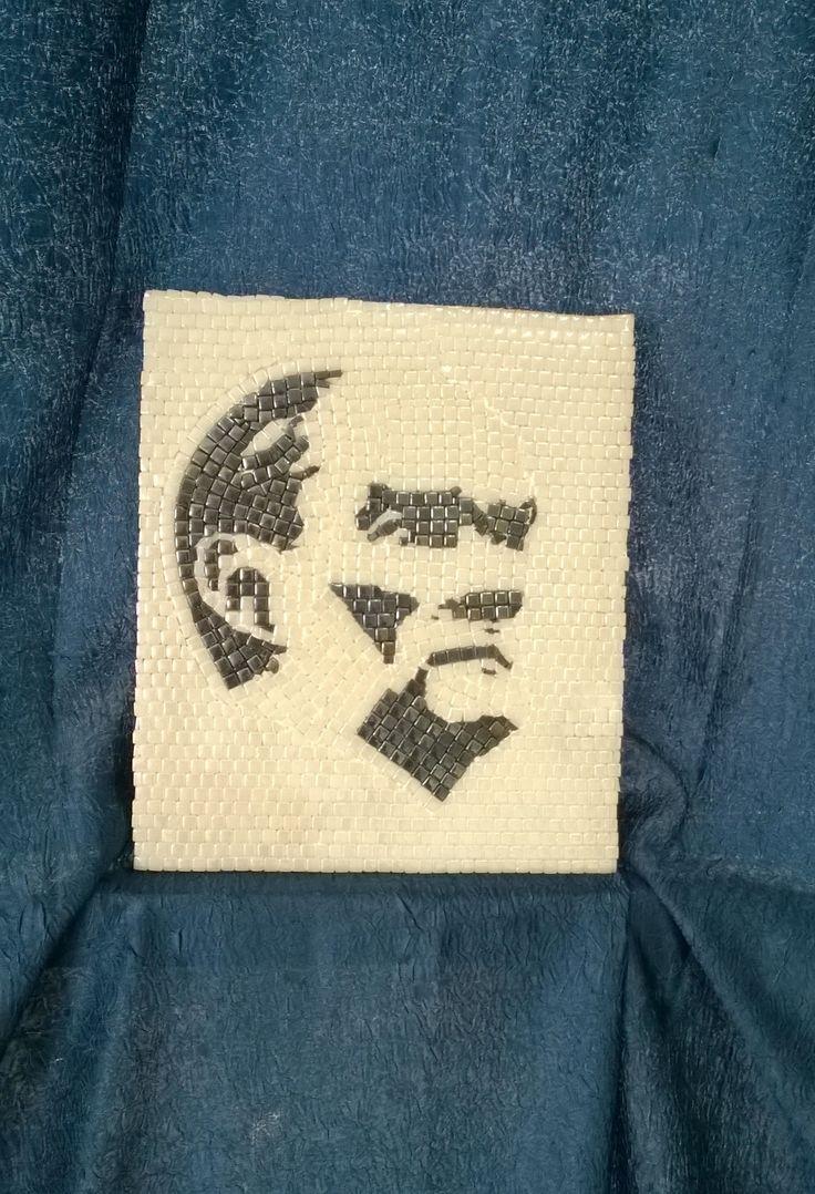 Mozaik Atatürk silueti