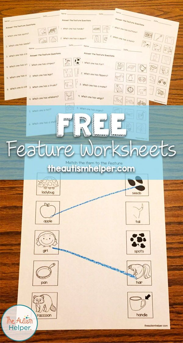Free Feature Worksheets The Autism Helper Life Skills Classroom Special Education Autism Emotional Support Classroom Autism life skills worksheets