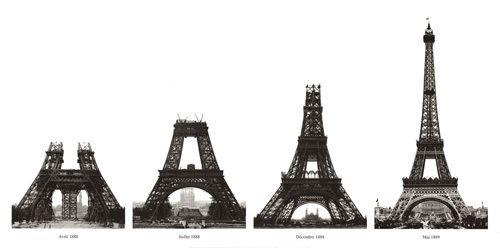 La costruzione della Torre Eiffel Poster