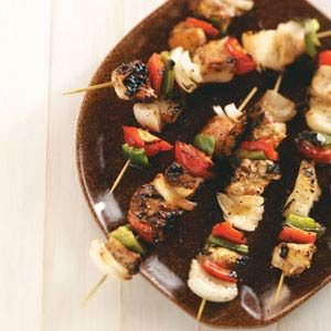 Honey-Glazed Chicken Kabobs Recipe from Taste of Home -- shared by Tracey Miller of Aiken, South Carolina