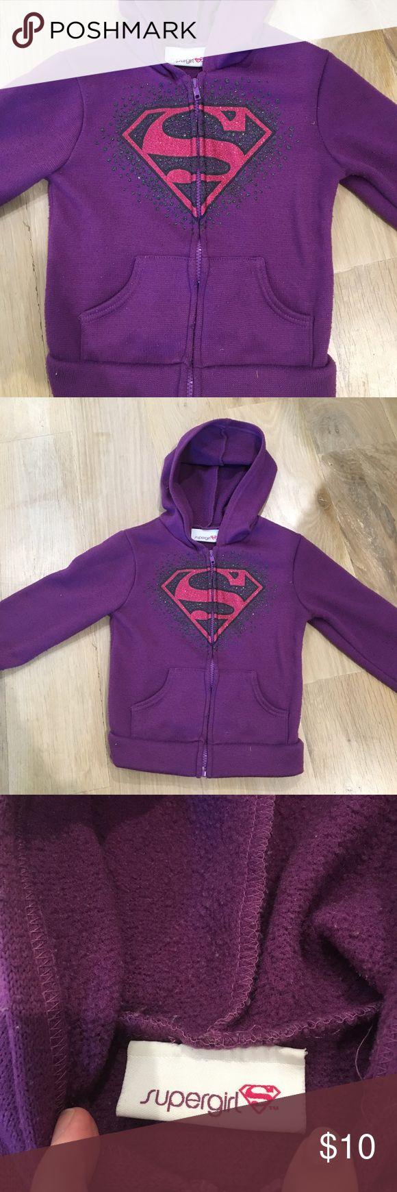 Girls genuine Supergirl Purple Jacket Lightweight purple jacket. Good used condition. Marvel Jackets & Coats
