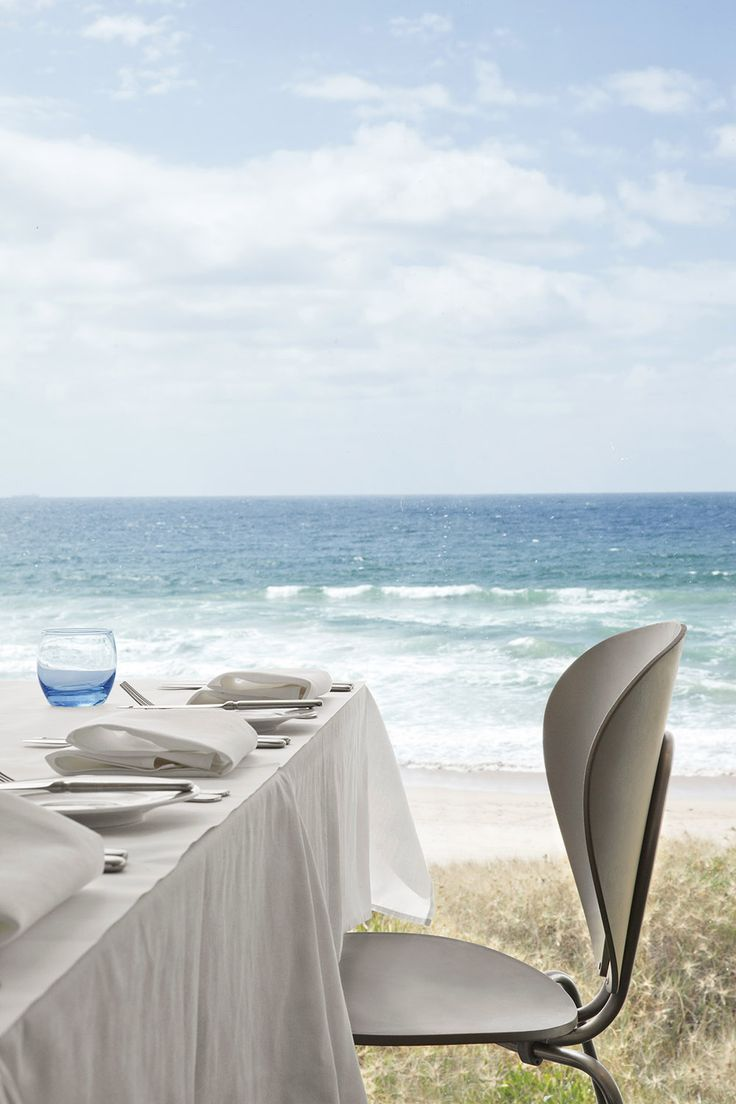 A table with a view: Summer Salt restaurant near Sydney with longlasting STUA Globus chairs in taupe color. A project by Stylecraft team. GLOBUS: www.stua.com/design/globus