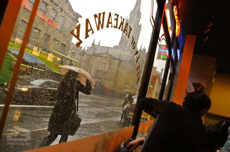 Heavy Rain Outside the Takeaway - photo 8 of 23 from 23PhotosOf.com/edinburgh