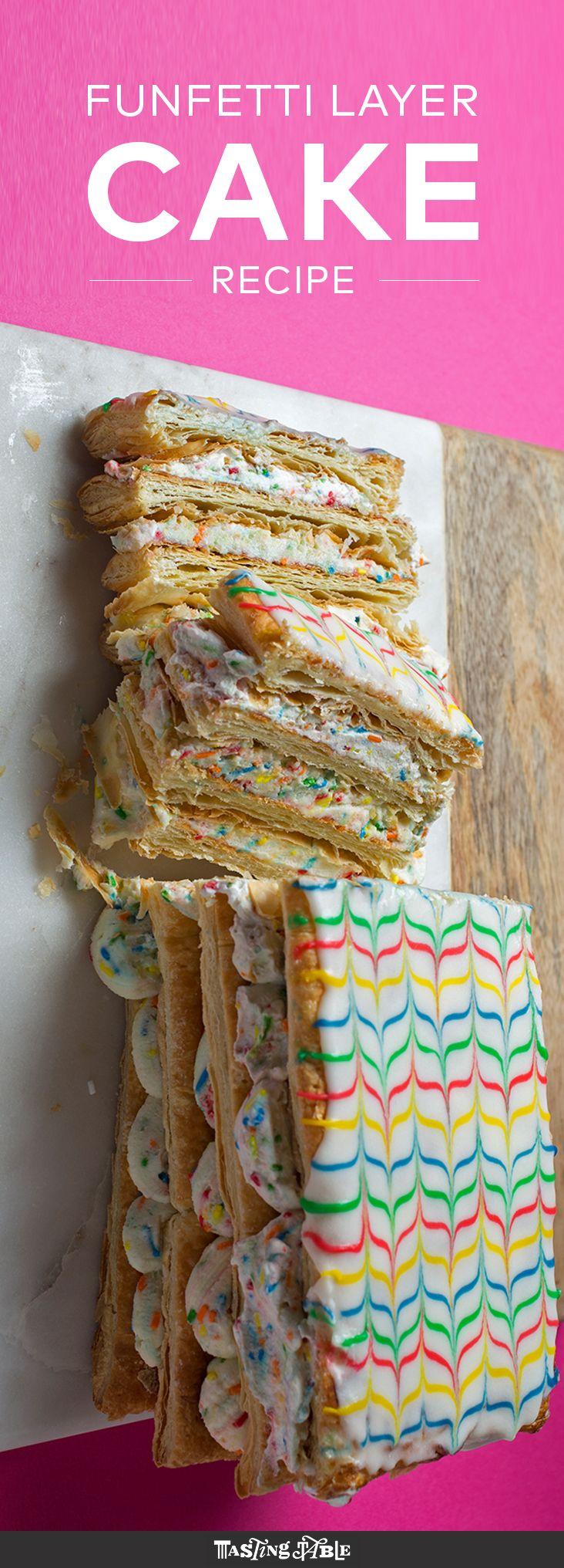 Funfetti Napoleon Cake