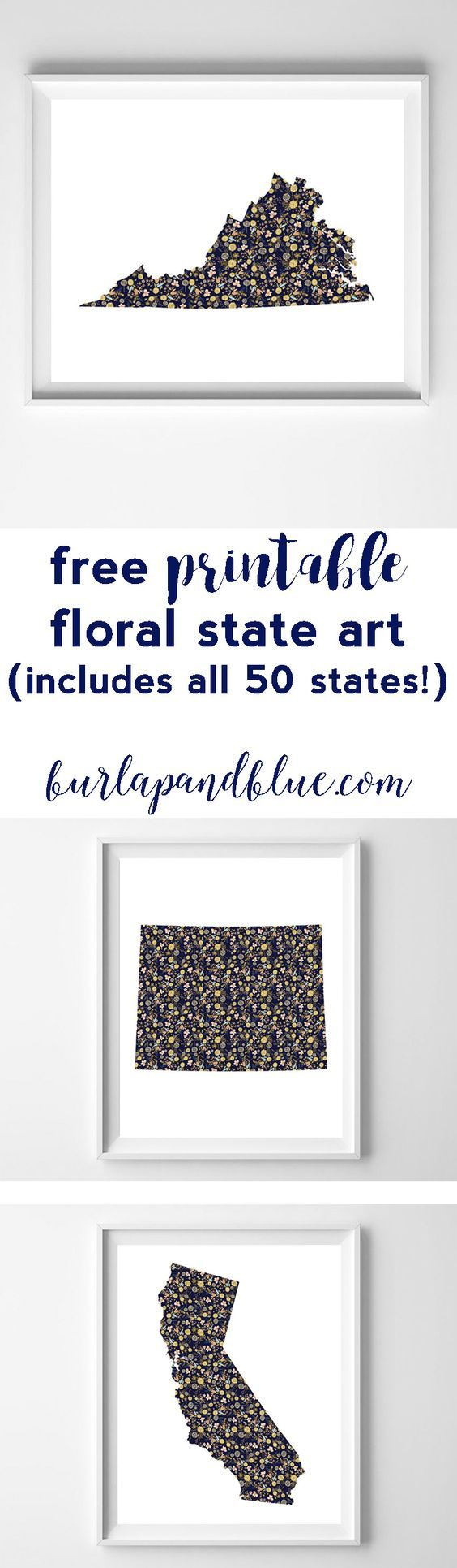 free printable state art! great wedding or moving gift...just print, frame and hang!