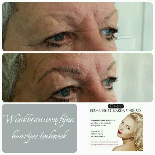 Fijne haartjes techniek toegepast.  Nathalie Rozema, permanente make-up Venray.nl