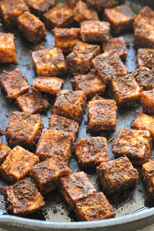 Crispy Blackened Tofu