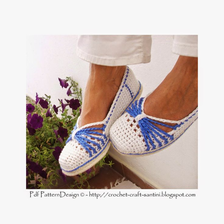 Sophie and Me: BLUE-BOW CROCHET SLIPPERS | SAPATILHAS E ...