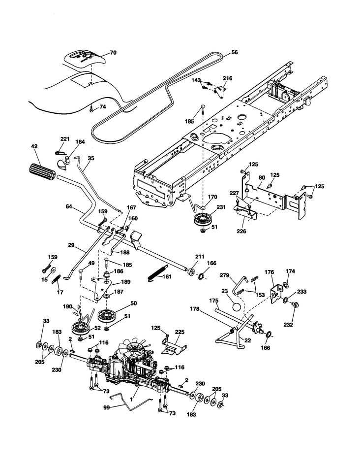 DRIVE Diagram & Parts List for Model yth2042 Husqvarna