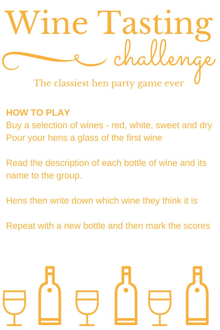 The classiest hen party game ever? The Wine Tasting Challenge tests your hen parties knowledge of world wines