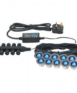 The Ikon Round LED has a contemporary IP67 waterproof design making this unit a must for decking areas, walkways and other outdoor areas. Combined with exceptionally low power consumption, this product is cost effective and cheap to run. Complete with LED driver 10 x 0.15W LED module (Capsule) Blue (Included) IP67 Can be wall mounted 1mm projection x 30mm diameter Not suitable for use with a dimmer switch Class 2 BRAND- Endon REFERENCE- 13890 DISPATCH- 3-5 Days (subject to availability