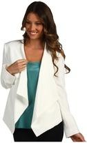 womens tuxedo jacket - eliza j tuxedo jacket with flaps ivory apparel
