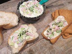 Ham-prei salade voor op brood of toast