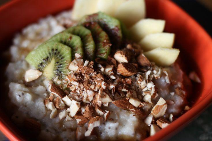 Rýžová kaše s chia semínky - #recept na blogu veggiestime.cz