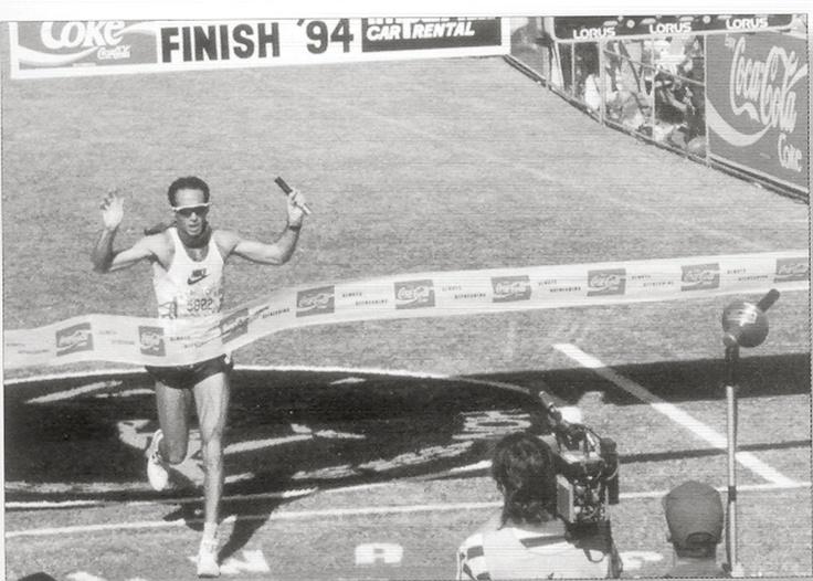 Alberto Salazar, USA winning the 1994 Comrades Marathon in 5:38